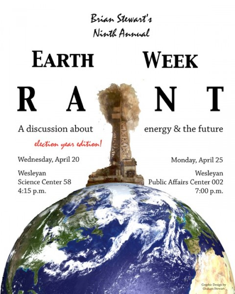 Earth Week Rant poster 2016